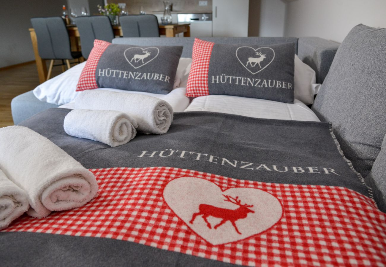 sofa bed for two persons in Holiday Home Windroeschen in Tauplitz