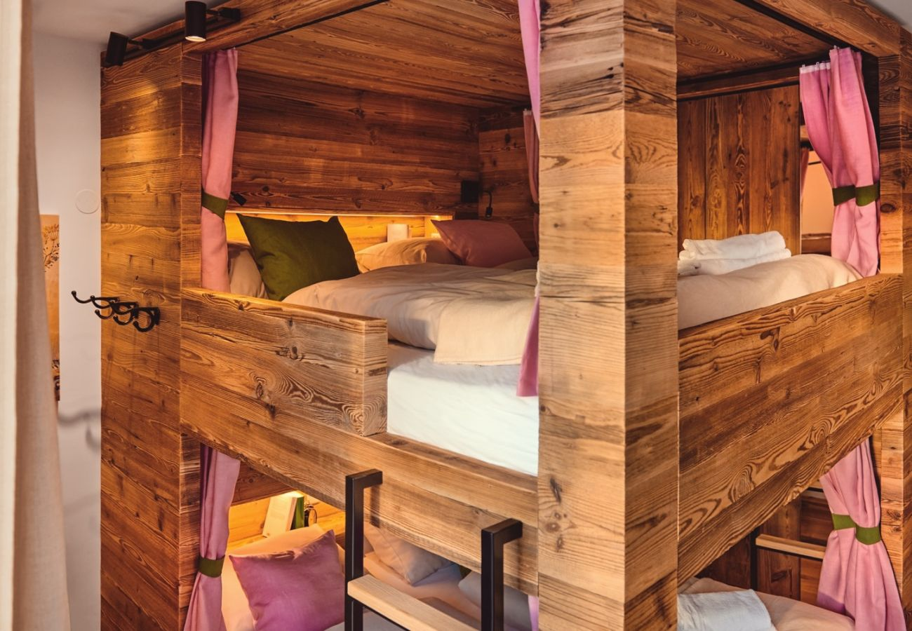 Bedroom 1 in the holiday home flat Penthouse Grimming Adler Lodge D7.1 in Tauplitz, Alpine Style