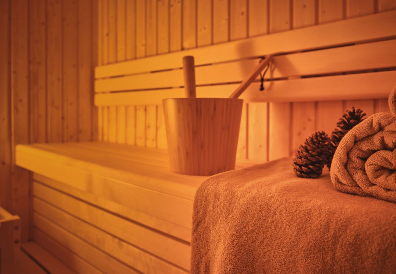 Sauna in the holiday home flat Adler Lodge D3 in Tauplitz