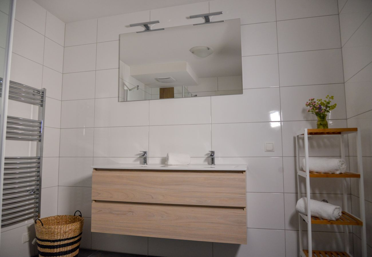 washbasin in the bathroom in the holiday home Grimming Lodge Goldrute in Tauplitz