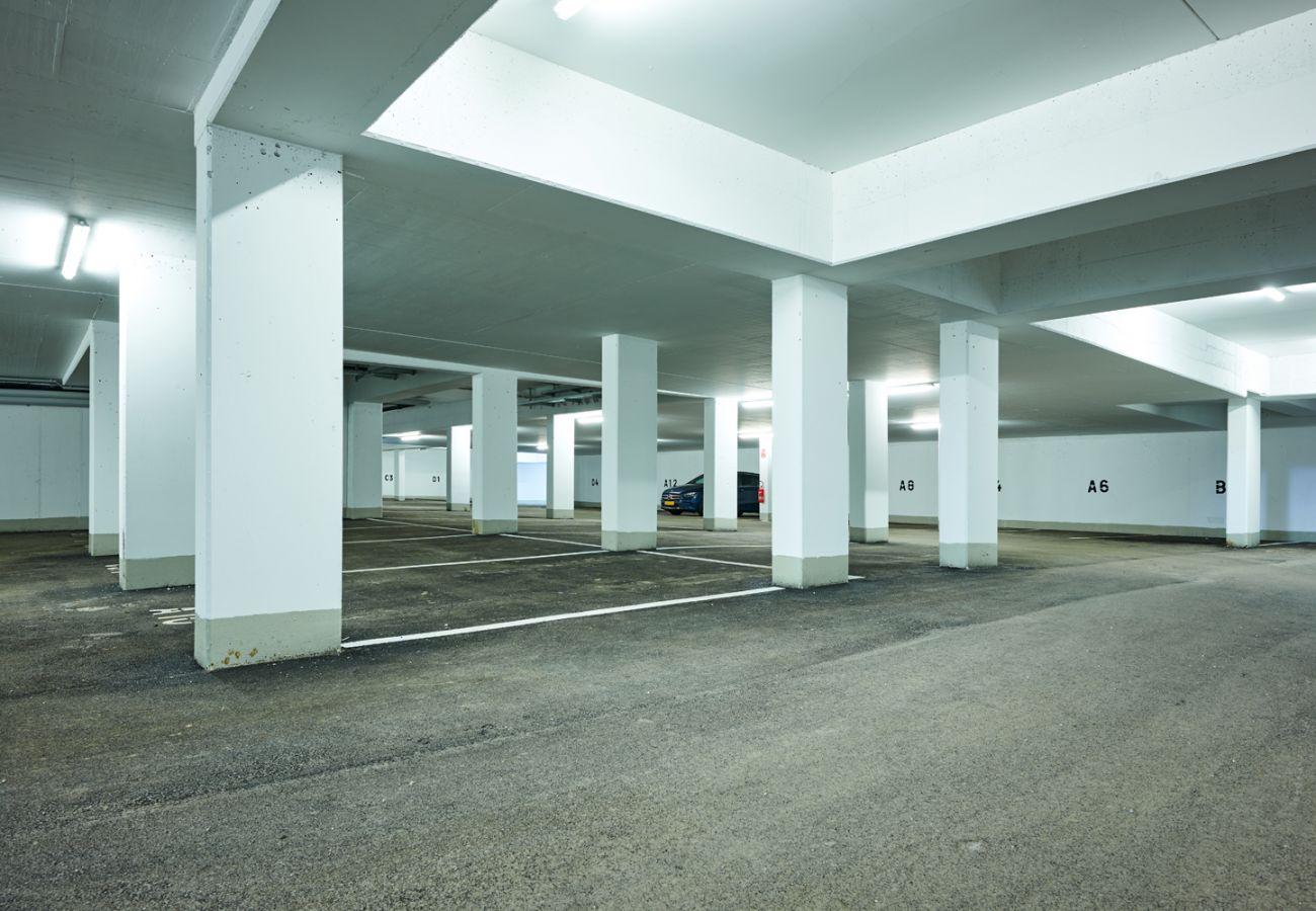Tiefgarage mit kostenlosem Parkplatz für die Ferienwohnung Penthouse Grimming Adler Lodge D7.1 in Tauplitz