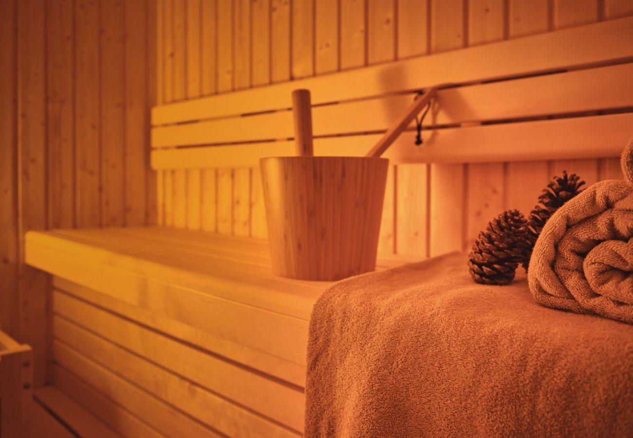 Sauna in der Ferienwohnung Adler Lodge D3 in Tauplitz