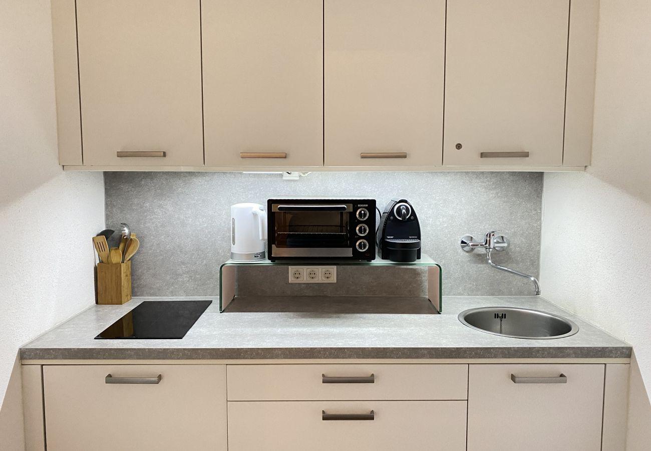 Küche in der Ferienwohnung Alpine Studio Apartment in der Schladming-Dachstein Region