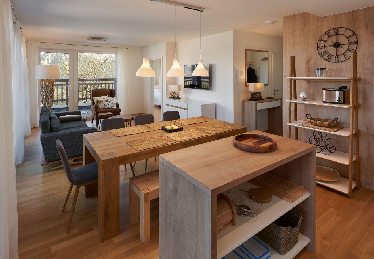 Wohnbereich in der Ferienwohnung Fastenberg Top 3 in der Schladming-Dachstein Region