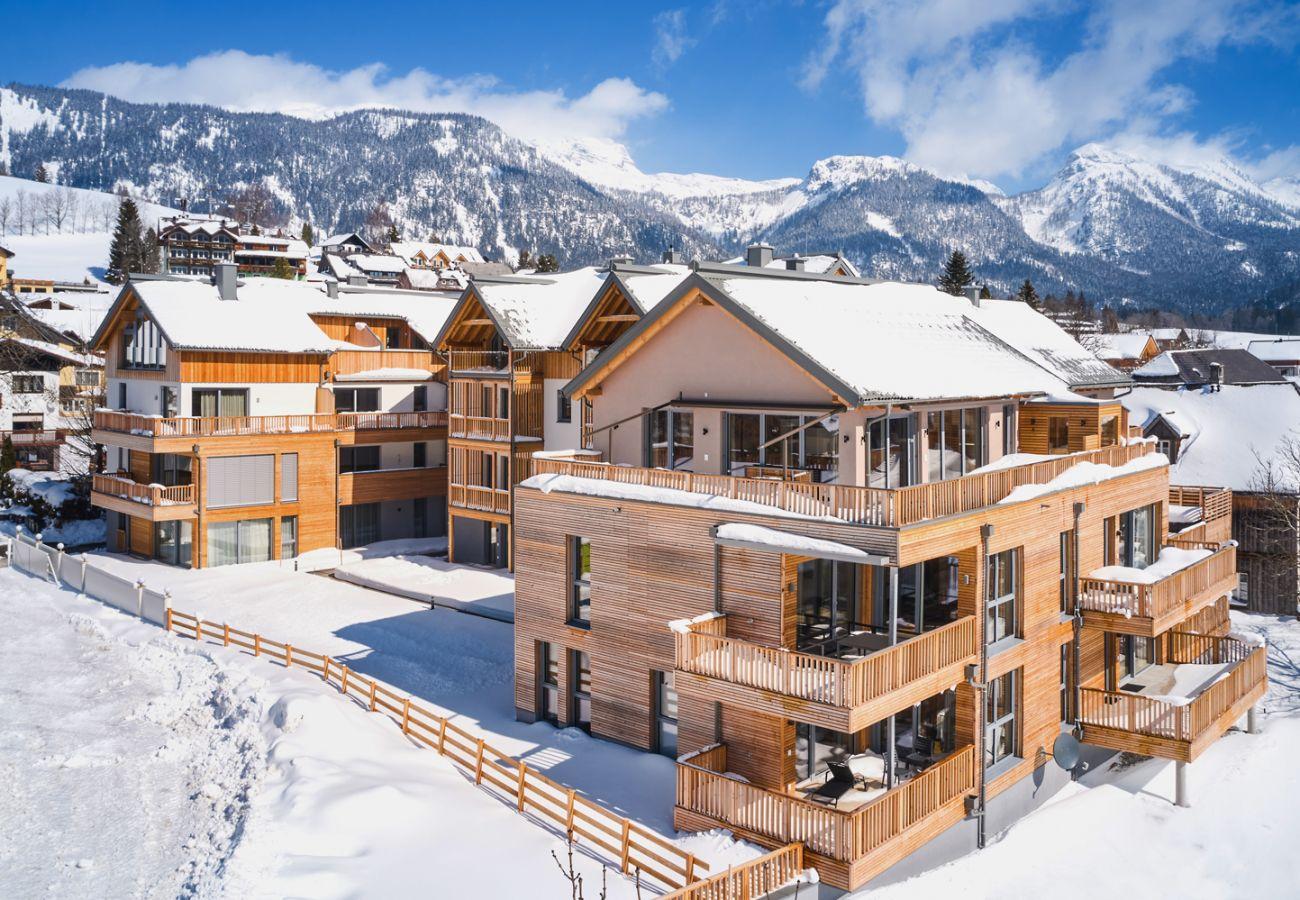Außenansicht von der Ferienwohnung Adler Lodge D5 in Tauplitz